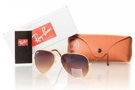 Солнцезащитные очки, Ray Ban Aviator 3026brown-gold